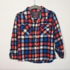 Joe Fresh red, white, blue and black flannel